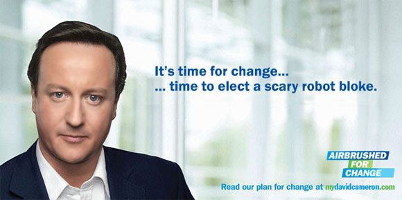It's time for change... time to elect a scary robot bloke
