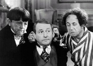 Three Stooges (Merkel, Kenny, Sarkozy)