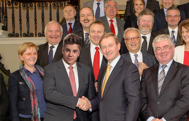 Justin Bieber takes part in the Croke Park negotiations